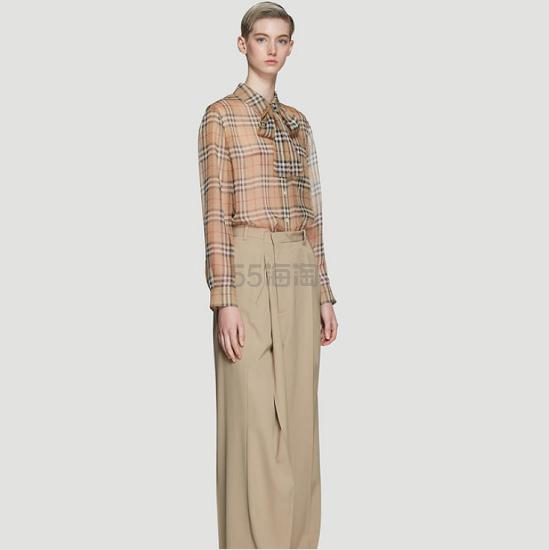 BURBERRY 复古经典图案系带丝绸衬衫 5(约3,404元) - 海淘优惠海淘折扣|55海淘网