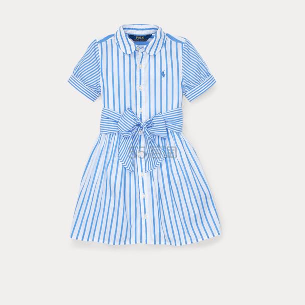 Ralph Lauren 大童款条纹短袖连衣裙
