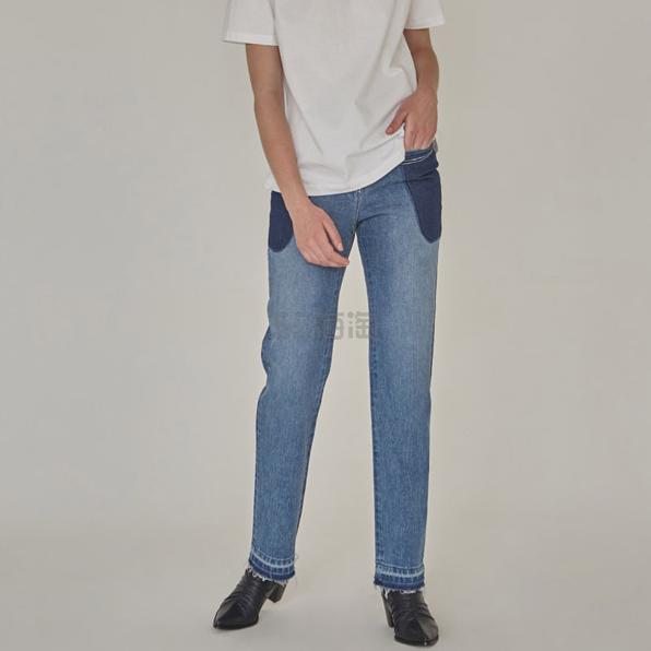 Low Classic 复古水洗拼色口袋装饰女士直筒牛仔裤 免税包邮 ¥1,311.38 - 海淘优惠海淘折扣|55海淘网