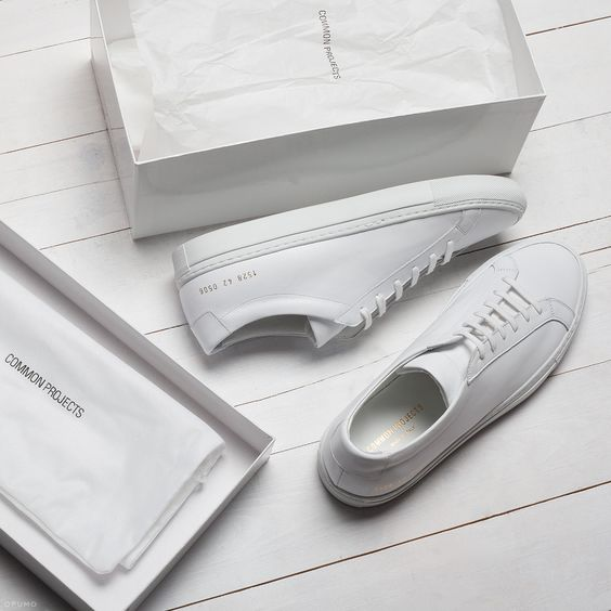 Common Projects 经典基础女士小白鞋