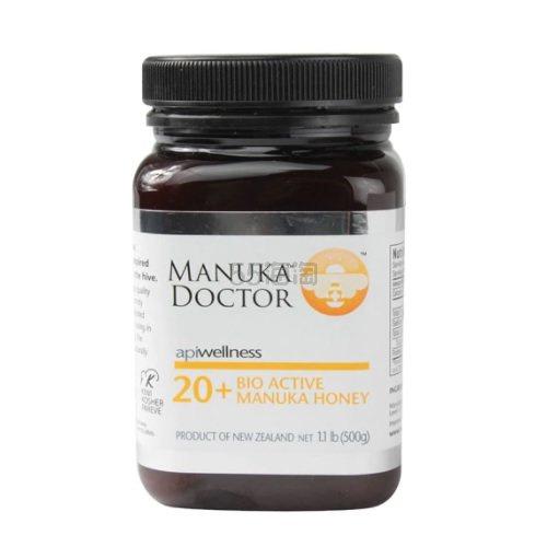 【额外8折】Manuka Doctor 20+ 活性麦卢卡蜂蜜 500g .49(约238元) - 海淘优惠海淘折扣 55海淘网