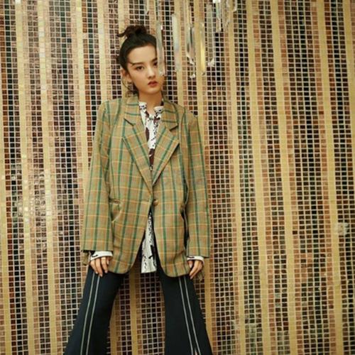【宋祖儿同款】Even Vintage 格纹腰带西装外套 ¥725 - 海淘优惠海淘折扣 55海淘网