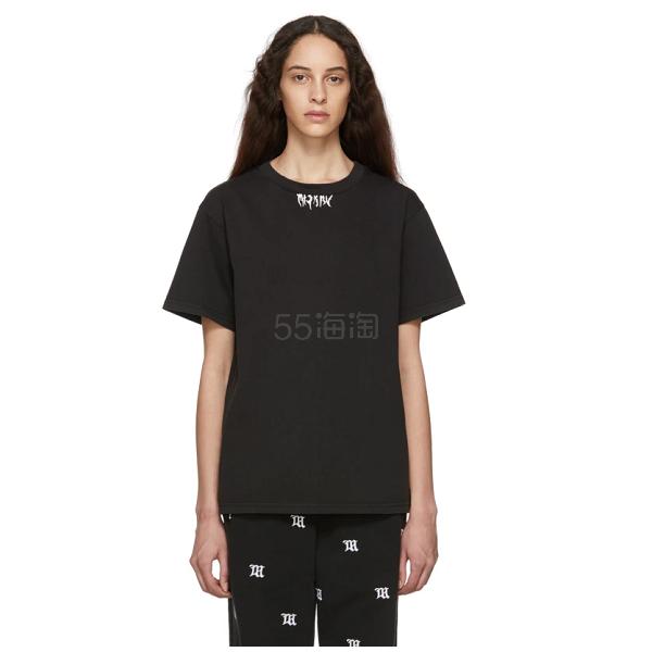 MISBHV 黑色印花短袖 0(约1,006元) - 海淘优惠海淘折扣|55海淘网