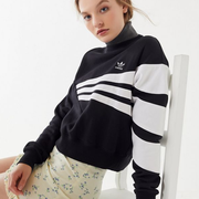 adidas Geometric 3-Stripes Cropped 阿迪达斯卫衣