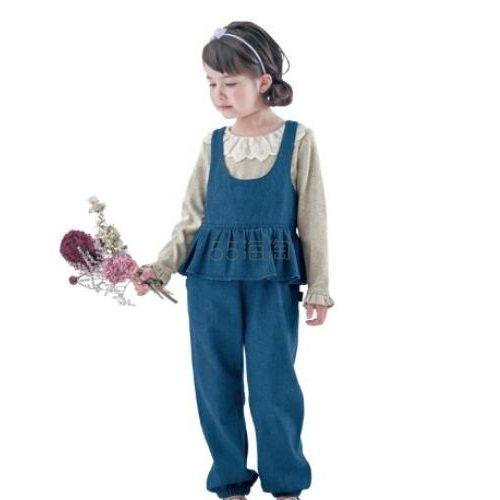 GITA 儿童牛仔连体背带裤 蓝色 1,369日元(约82元) - 海淘优惠海淘折扣 55海淘网