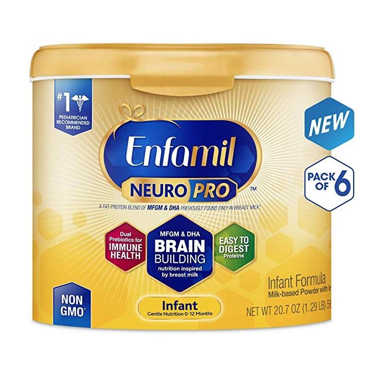 好价!Enfamil 美赞臣 NeuroPro 金樽婴儿配方奶粉 586g*6罐 适合0-12个月婴儿