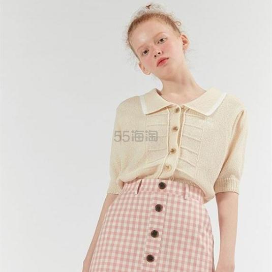 O!OI  短款翻领刺绣短袖针织衫 ¥600 - 海淘优惠海淘折扣 55海淘网