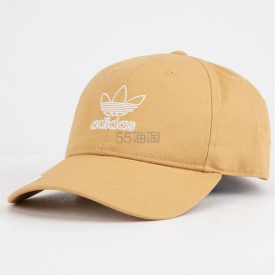 4折!再降价!Adidas Originals 三叶草 浅姜黄卡其色棒球帽 .48(约65元) - 海淘优惠海淘折扣|55海淘网