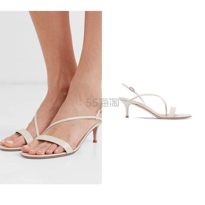 GIANVITO ROSSI 55 皮革露跟凉鞋 £540(约4,715元) - 海淘优惠海淘折扣|55海淘网