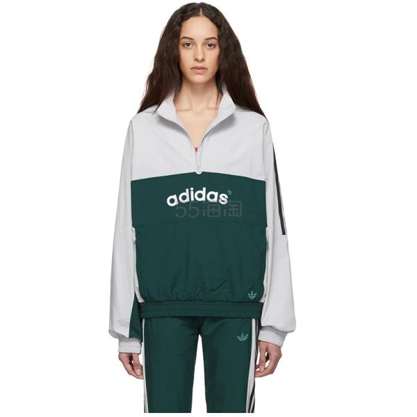 adidas Originals 阿迪达斯白绿运动外套 5(约906元) - 海淘优惠海淘折扣 55海淘网