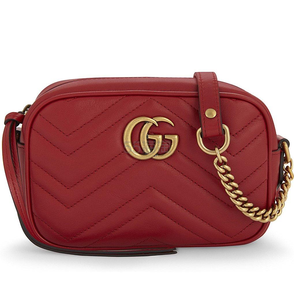 Gucci GG Marmont 迷你相机包 红色 £736.84(约6,282元) - 海淘优惠海淘折扣|55海淘网