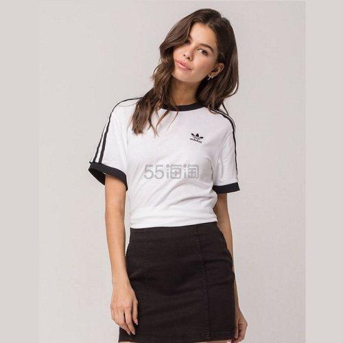 2.9折!白菜价还有码!Adidas Originals 三叶草 黑白拼色经典三条杠短袖 .98(约67元) - 海淘优惠海淘折扣|55海淘网