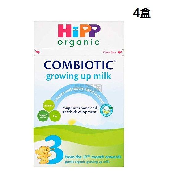【中亚Prime会员】HiPP Organic 喜宝3段婴儿成长奶粉 12个月以上 600g*4盒 到手价345元 - 海淘优惠海淘折扣|55海淘网