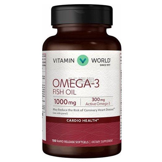 买1送2!Vitamin World 美维仕 Omega-3 鱼油 1000mg 100粒