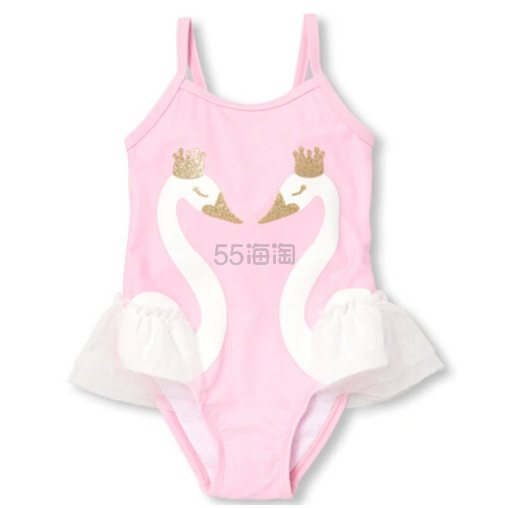 The Childrens Place 女童款粉色泳衣 .97(约81元) - 海淘优惠海淘折扣 55海淘网