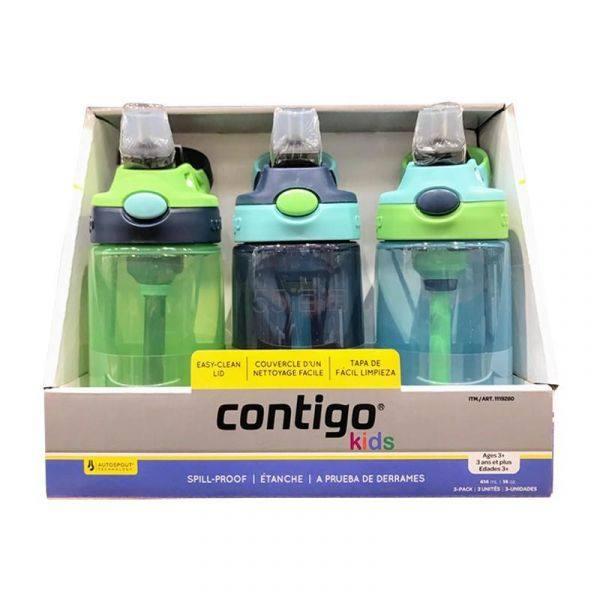 Contigo 康迪克 防漏儿童吸管杯水壶 414ml*3只 .9(约154元) - 海淘优惠海淘折扣|55海淘网