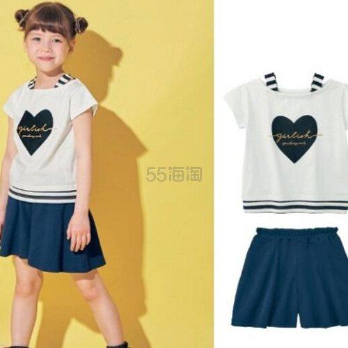 GITA basic 女童 短袖裙裤套装 码全 2,290日元(约139元) - 海淘优惠海淘折扣|55海淘网