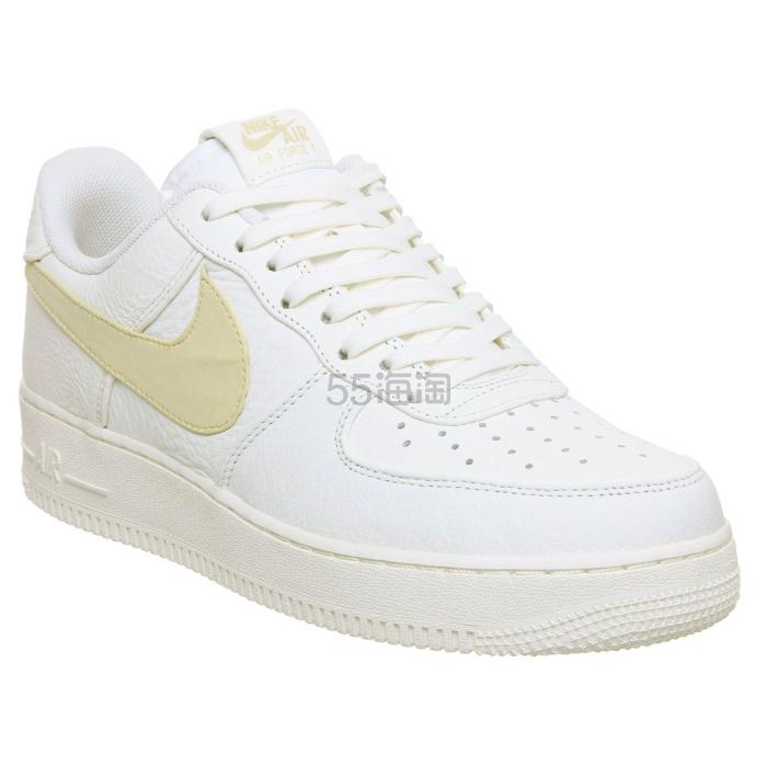 Nike Air Force 1 07 浅黄色 swoosh 运动鞋 9(约873元) - 海淘优惠海淘折扣|55海淘网