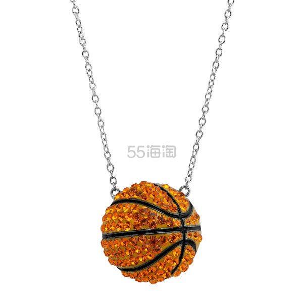 Crystaluxe 施华洛世奇水晶装饰篮球项链 (约400元) - 海淘优惠海淘折扣|55海淘网