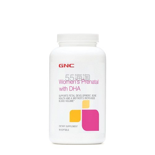 GNC 健安喜 孕妇综合营养+DHA 90粒 .39(约45元) - 海淘优惠海淘折扣 55海淘网