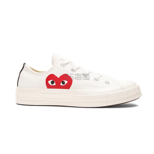 补货上架~COMME DES GARCONS PLAY 中性款白色运动鞋