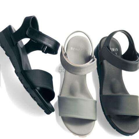 BENEBIS 日系柔软厚底魔术贴凉鞋 3色 码全 5,990日元(约376元) - 海淘优惠海淘折扣|55海淘网