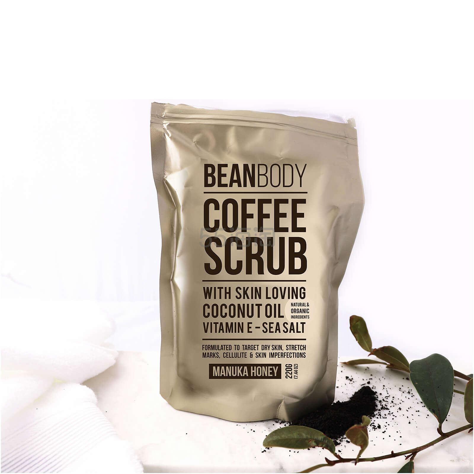 Bean Body 咖啡豆身体磨砂膏 麦卡卢蜂蜜 220g £10.47(约88元) - 海淘优惠海淘折扣|55海淘网