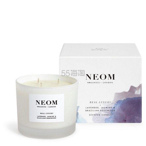 NEOM Real Luxury 香薰蜡烛 420g 三芯 £32.2(约269元) - 海淘优惠海淘折扣|55海淘网