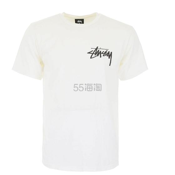 Stussy 白色基础款 LOGO 短袖 €43.57(约336元) - 海淘优惠海淘折扣 55海淘网