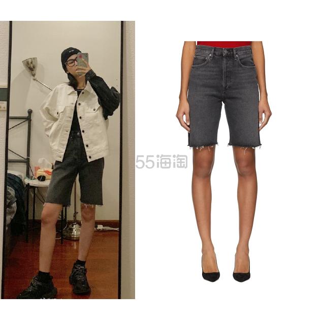【Iris 同款】Agolde 90年代复古中腰宽松牛仔短裤 0(约969元) - 海淘优惠海淘折扣|55海淘网