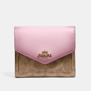 Coach Small Wallet In Signature Canvas 拼色小钱包