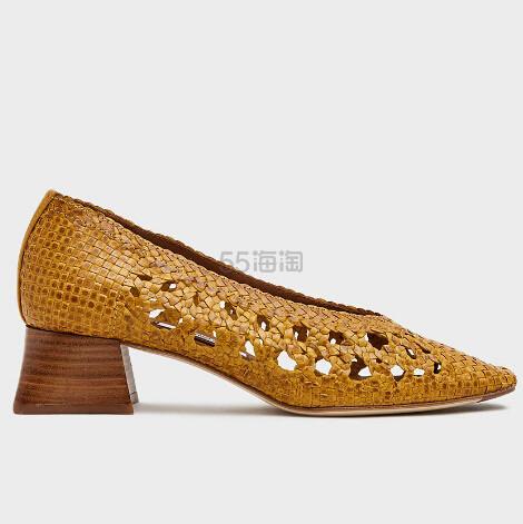 Miista Marina Woven Heel in Yellow 黄色编织皮革女鞋 6.99(约1,431元) - 海淘优惠海淘折扣|55海淘网