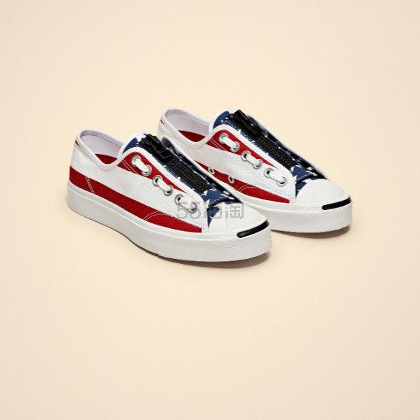 【新款码全】CONVERSE X TAKAHIRO THESOLOIST. 合作款 Jack Purcell 美国国旗开口笑帆布鞋 7(约878元) - 海淘优惠海淘折扣|55海淘网