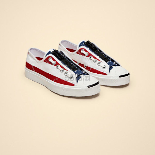 CONVERSE X TAKAHIRO THESOLOIST. 合作款 Jack Purcell 美国国旗开口笑帆布鞋 (约587元) - 海淘优惠海淘折扣|55海淘网