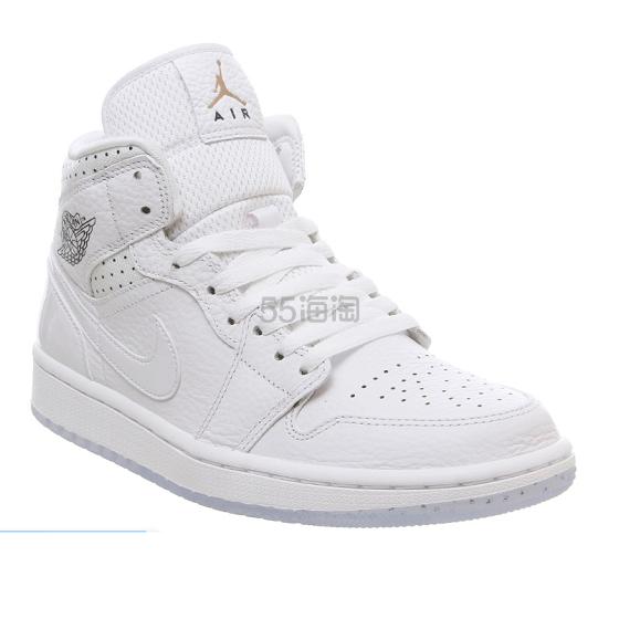 【法国国家队限定款】Air Jordan 1 白色中帮女士运动鞋 4(约925元) - 海淘优惠海淘折扣|55海淘网