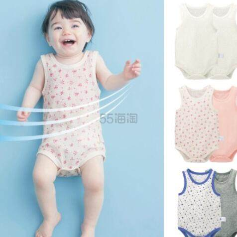 GITA basic 背心连体婴儿服 2件装 多款 码全 日元990(约63元)+2件9.5折/3件9折 - 海淘优惠海淘折扣|55海淘网