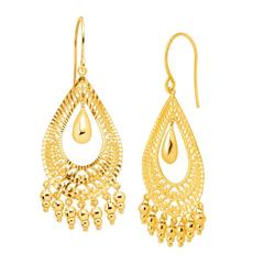 ETERNITY GOLD 10k 黄金扇形耳环