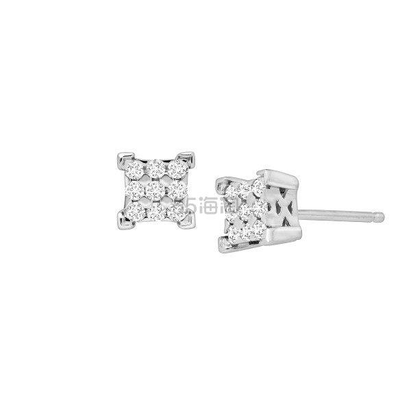 FINECRAFT 1/4 克拉钻石方形耳钉 (约476元) - 海淘优惠海淘折扣 55海淘网