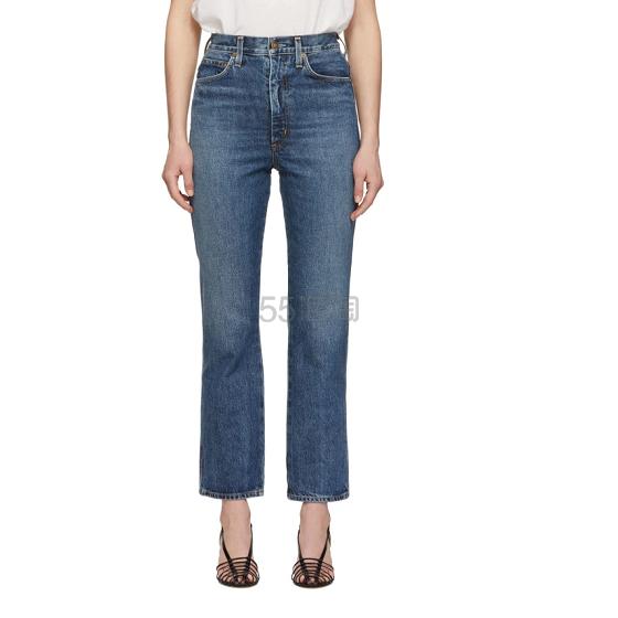 Agolde 蓝色高腰牛仔裤 1(约904元) - 海淘优惠海淘折扣|55海淘网