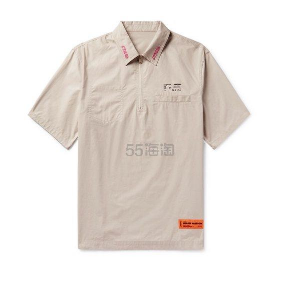 HERON PRESTON 宽松米白色工装短袖 0(约3,872元) - 海淘优惠海淘折扣 55海淘网