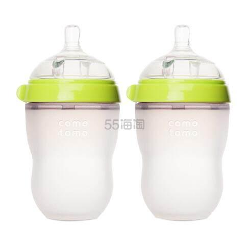 Comotomo 可么多么 婴儿防胀气全硅胶奶瓶 250ml*2 .99(约127元) - 海淘优惠海淘折扣|55海淘网