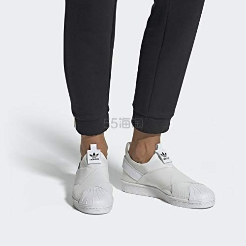 adidas Originals 三叶草 Superstar 白色一脚蹬运动鞋 ¥206 - 海淘优惠海淘折扣|55海淘网