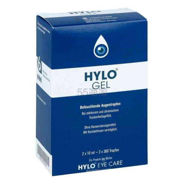 【免邮中国】Hylo-Gel 海露玻璃酸钠滴眼液 2*10ml €21.99(约172元) - 海淘优惠海淘折扣|55海淘网