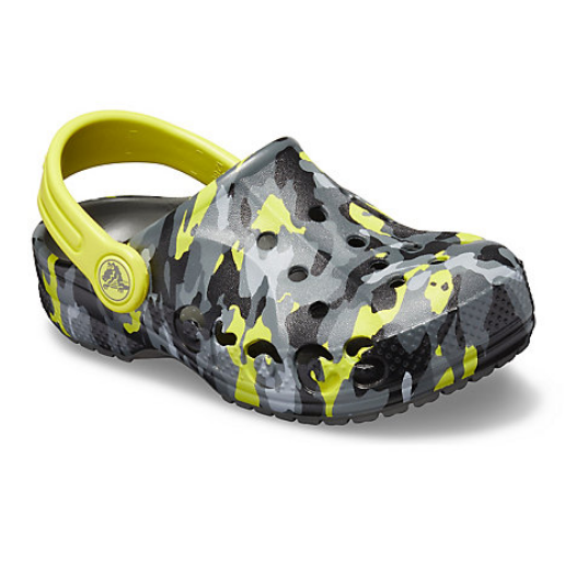 Crocs 卡骆驰 Baya Seasonal Graphic Clog 儿童迷彩洞洞鞋
