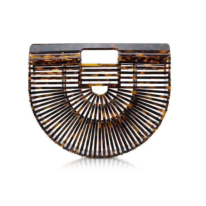 Cult Gaia Tortoise Acrylic Small Ark Bag 玳瑁小号半帽包 €215.5(约1,681元) - 海淘优惠海淘折扣|55海淘网
