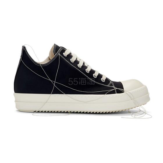 Rick Owens Drkshdw 黑色帆布鞋 9(约3,109元) - 海淘优惠海淘折扣|55海淘网