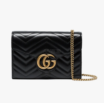 Gucci GG Marmont Matelassé 黑色迷你款包包