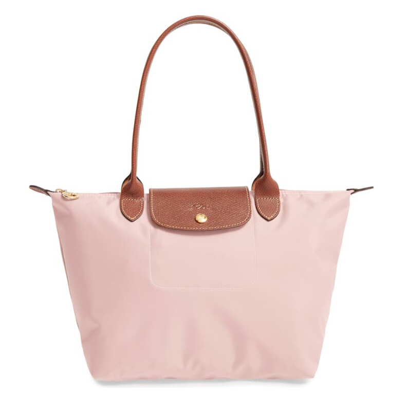 LONGCHAMP 'Small Le Pliage' 粉色饺子包