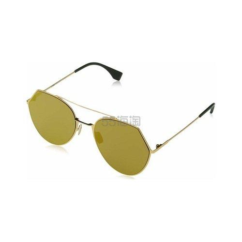 2.1折!降价!Fendi 芬迪 金棕色太阳镜 .99(约690元) - 海淘优惠海淘折扣|55海淘网