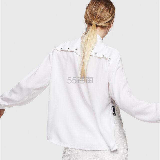 Diesel 背后纽扣装饰黑白两色衬衫 8(约1,219元) - 海淘优惠海淘折扣|55海淘网